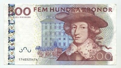 Sweden 500 Kronor Banknote, No Reserve Price Auction!!