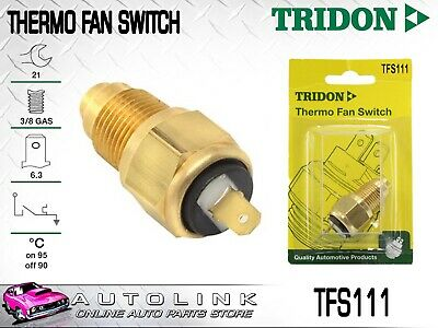Tridon Thermo Fan Switch Tfs111 Fan On @ 95 °C - Off @ 90 °C 3/8 Bsp Brass