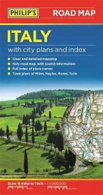 Philip's Italy Road Map 9781849074100 (Paperback, 2016)