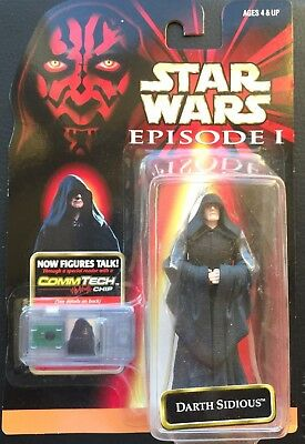 Star Wars Episode 1 Darth Sidious Action Figur Collection 2 Hasbro com Talk holo