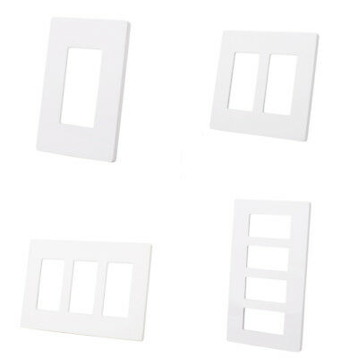 5/10 Pack 1 2 3 4 Gang Screwless Decorator Outlet Wallplate Rocker Switch Cover