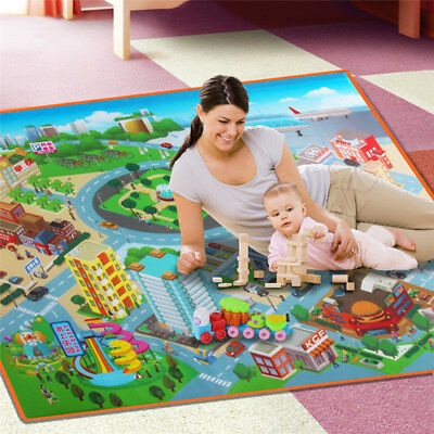 Child Baby Play Mat Floor Rug Infant Kid Carpet Game Crawling Blanket Traffic FG