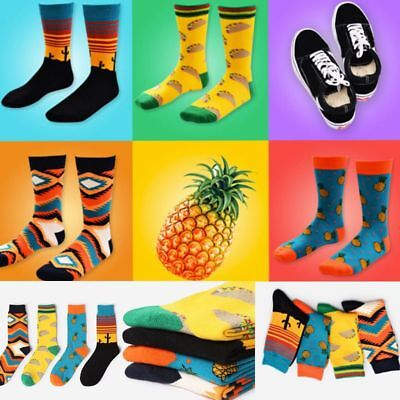 Unisex Mens Women Vintage Retro Cotton Socks Funny Painting Art Novelty Socks