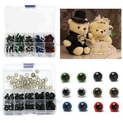 100X DIY Plastic Black/Color Safety Eyes Toys for Teddy Bear Doll Making Craft