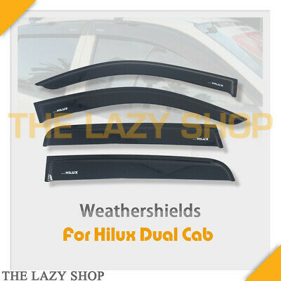 Weathershields, Weather shields for Hilux Dual Cab 05-15 model Sun Visors #L