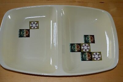 Retro Carlton Ware Tapestry pattern Divided Dish - Cream