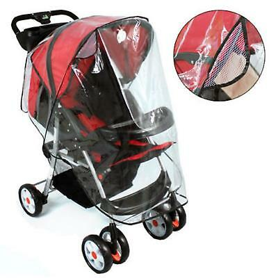 Buggy Rain Cover Universal Pushchair Stroller Pram Transparent