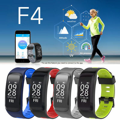 NO.1 F4 IP68 Waterproof Heart Rate Blood Pressure Fitness Tracker Smart Watch UK