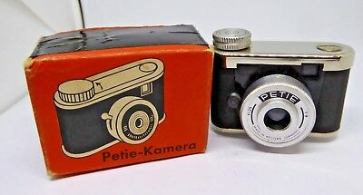 Vintage PETIE West German Miniature Spy Camera - Boxed and Instructions