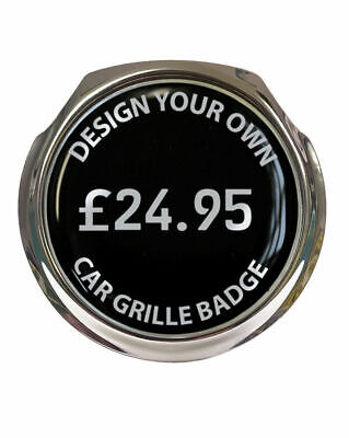 Design Your Own Car Grille Badge - FREE FIXINGS