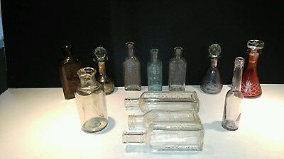 Antique 1851 Dr. True's Elixir / Hires Improved Root Beer & More 12 Pcs.  Mint