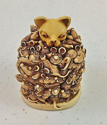 """Harmony Kingdom Treasure """"Too Much Of A Good Thing"""" ITEM # TJMC,Excellent Cond."""