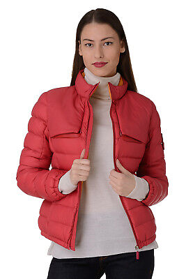 PIQUADRO Size 44 / S Women's Down Stitched Travel Jacket With Concealed Hood
