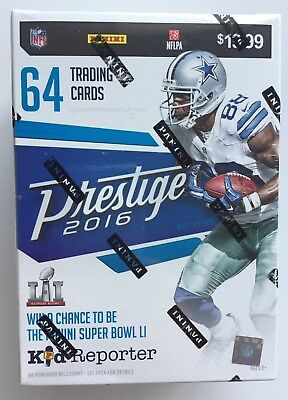 2016 Panini Prestige NFL Football 8-pack Blaster Box - New & Sealed