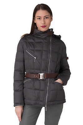 PIQUADRO Size 48 / L Women's GI2852J38 Down Quilted Jacket With Detachable Hood