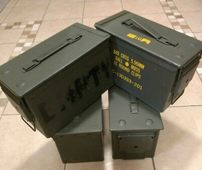 Ammo Can Box US Army Military M2A1 50 Cal Ammunition Storage  5.56MM