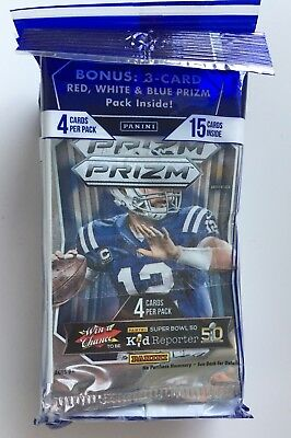 NEW 2015 Panini Prizm NFL Football Super Pack - Lot of 3 Packs
