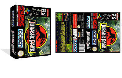 Jurassic Park - SNES Replacement Game Box With Box Art Insert (Game case only)