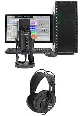 SAMSON G-Track Pro Studio USB Studio Microphone Mic+Audio Interface+Headphones