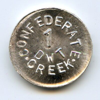 Alaska R6 Privately Minted Confederate Creek / Die Trial 1 DWT in Silver