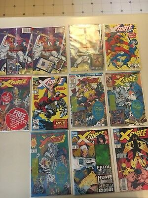 Marvel Comics X-Force New Mutants 16 issue lot.  Cable, Deadpool  Rob Liefield