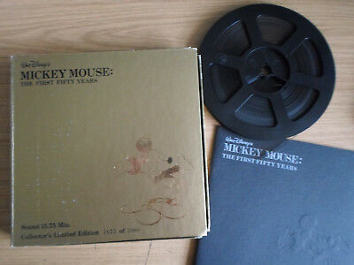 Super 8mm sound 1X400 MICKEY MOUSE THE FIRST 50 YEARS. Walt Disney cartoon.