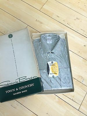 16.5 Town & Country Spence Bryson Cotton Shirt Pink Green Grey 60/70's Men Mod