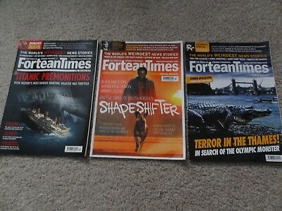 Fortean Times Magazine Issues 287, 289 & 290 May-July 2012