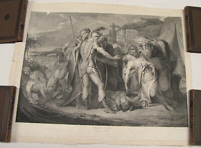 """Kupferstich, King Lear, Act V. Scene III, """"after James Barry 1792 """" , by Leg'at"""