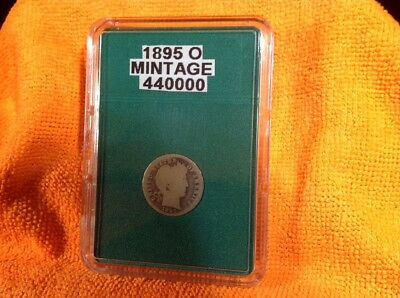 1895-O- Barber Dime - Rare Key Date - In Bcw Slab Type Holder