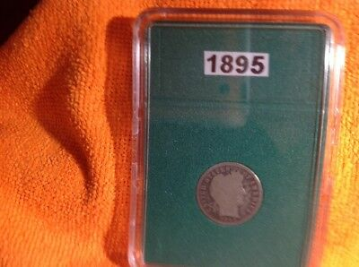 1895- Barber Dime - Rare Key Date - In Bcw Slab Type Holder