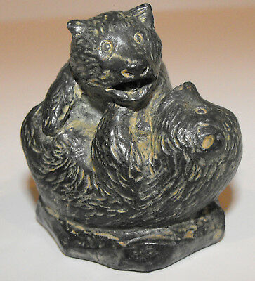 """The Wolf Sculptures - A Wolf Original - Bear Cubs Playing 2 1/2"""" made Canada"""