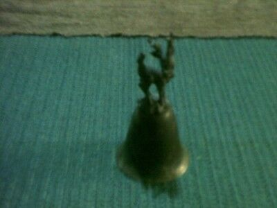 small hand bell with reindeer finial/topper
