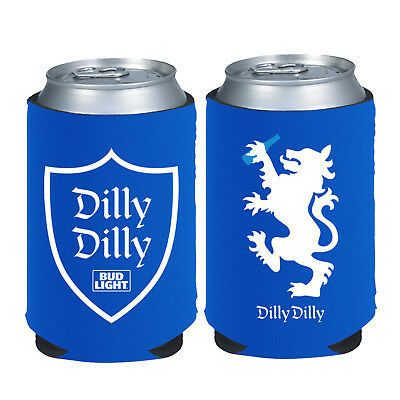 Dilly Dilly Bud Light Beer Can Neoprene Kaddy Koozie Cooler Sleeve 2 Pack