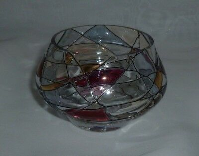 PartyLite Mosaic Tiffany Tealight Holder; Excellent Pre-Owned Condition; In Box