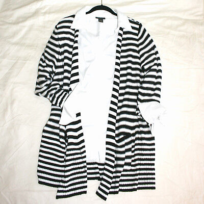 Lot of 2 LANE BRYANT White Dress Shirt and Striped Sweater Size 18/20