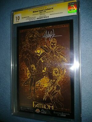 Michael Turner's Fathom #4 Wizard World VIP Ed. CGC SS 10.0