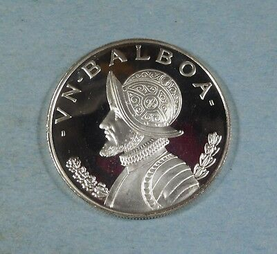 1973 PANAMA 1 BALBOA COIN  - Silver - PROOF