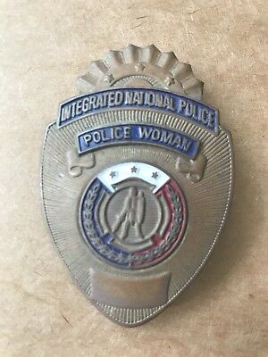 Vintage Obsolete Integrated National Police Woman Badge. Philippines (Rare)