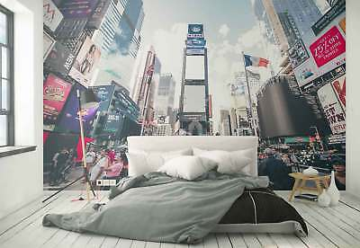 Time Square New York City Photo Wallpaper Wall Mural (FW-1104)