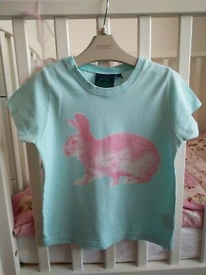 MINI BODEN___blue T-shirt top girl, age 5-6 yrs