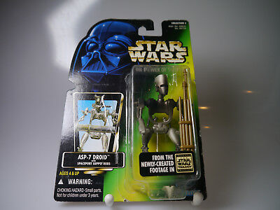 Star Wars / POTF / ASP- 7 Droid wiht Spaceport Supply Rods / Kenner Japan Card