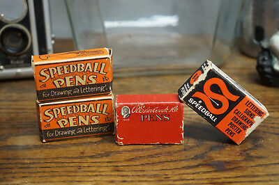 Vintage Lot of 30 Pens Nibs Speedball R. Esterbrook Drawing Lettering