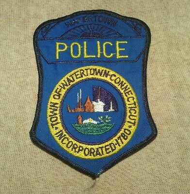 CT Watertown Connecticut  Police Patch 1