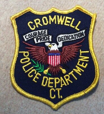 CT Cromwell Connecticut Police Patch (BL)