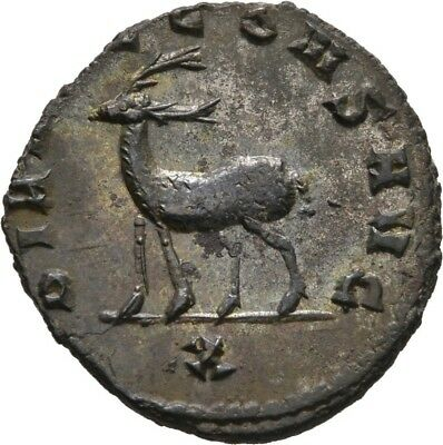 Lanz Rome Empire Gallienus Antoninian Roma Dianae Cons Aug Zoo Stag ±Teg2374
