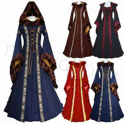 Womens Vintage Victorian Gothic Dress Dress Gown Fashion Costume Halloween Party