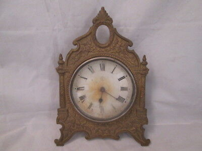 "Antique Clock Face ""FK"" Mark Brass Housing Parts Only"