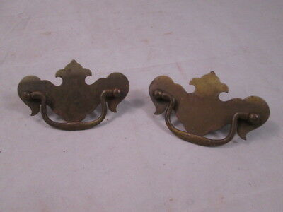 Pair of Chippendale Style Vintage Dresser Drawer Pulls
