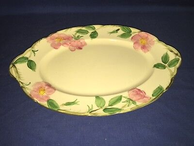 "USA Vintage Franciscan Desert Rose 12 1/2"" Oval Platter - Excellent"